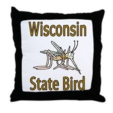 Wisconsin State Bird Throw Pillow
