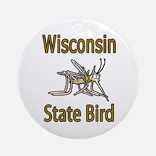 Wisconsin State Bird Ornament (Round)