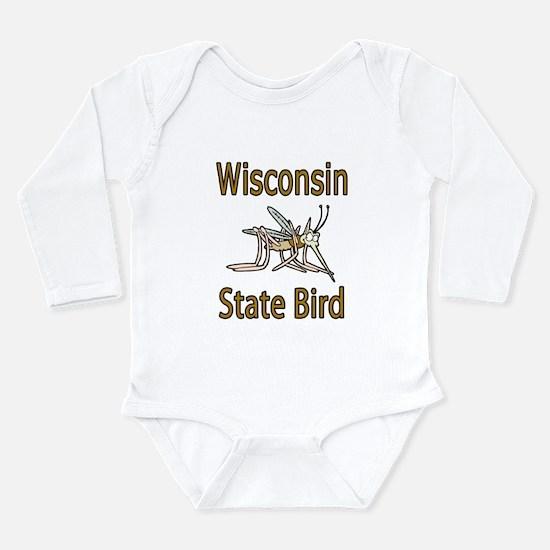 Wisconsin State Bird Long Sleeve Infant Bodysuit
