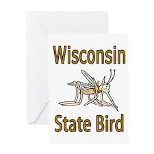 Wisconsin State Bird Greeting Card
