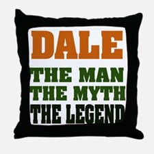 DALE - The Legend Throw Pillow