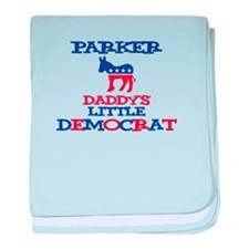 Parker - Daddy's Little Democ baby blanket