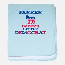 Parker - Daddy's Little Democ baby blanket