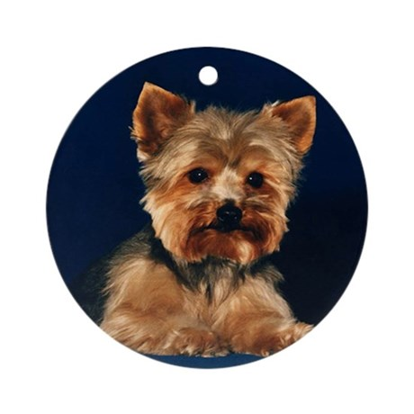 Yorkie Ornament (Round)