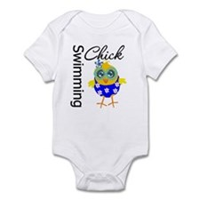Swimming Chick Infant Bodysuit