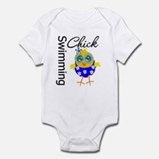 Swimming Chick Infant Bodysuit
