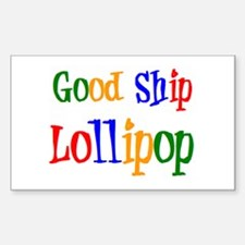 good ship lollipop Sticker (Rectangle)