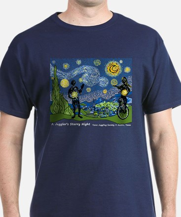 A Juggler's Starry Night (Navy or Royal Blue T)