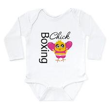 Boxing Chick Long Sleeve Infant Bodysuit