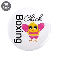 "Boxing Chick 3.5"" Button (10 pack)"