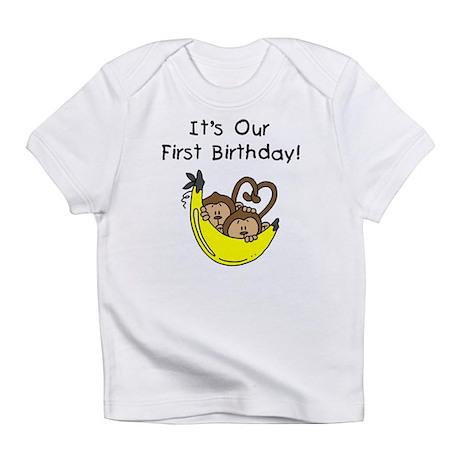 Twin Boys 1st Birthday Infant T-Shirt