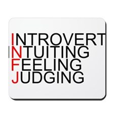 INFJ Spelled Out Mousepad