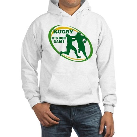 Rugby player fending Hooded Sweatshirt