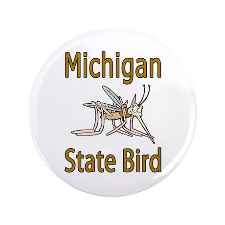 """Michigan State Bird 3.5"""" Button"""