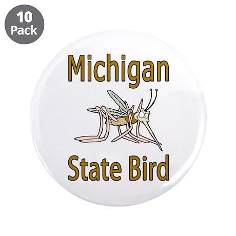 "Michigan State Bird 3.5"" Button (10 pack)"