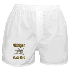 Michigan State Bird Boxer Shorts