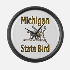 Michigan State Bird Large Wall Clock