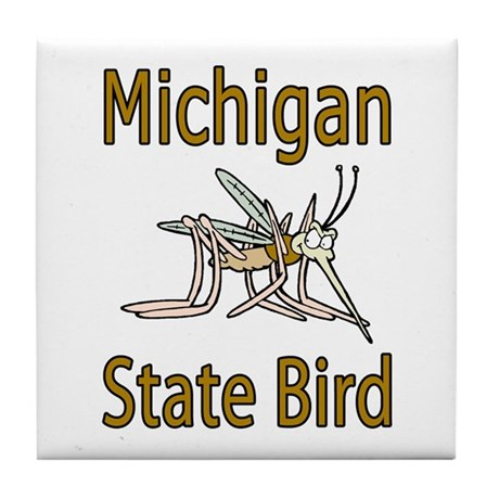 Michigan State Bird Tile Coaster