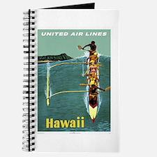 Vintage United Waikiki Poster Journal