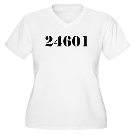 24601 Women's Plus Size V-Neck T-Shirt