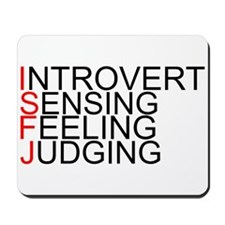 ISFJ Spelled Out Mousepad