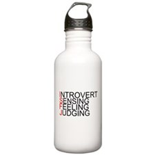 ISFJ Spelled Out Water Bottle