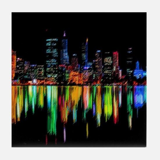 City panorama Tile Coaster