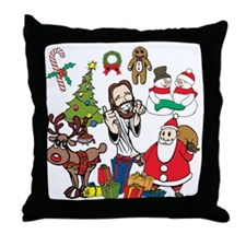 All about Jesus! Throw Pillow