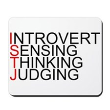 ISTJ Spelled Out Mousepad