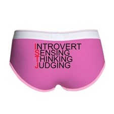 ISTJ Spelled Out Women's Boy Brief