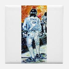 """Fencer USA"" Tile Coaster"