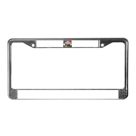 Support Our Troops Soldiers License Plate Frame
