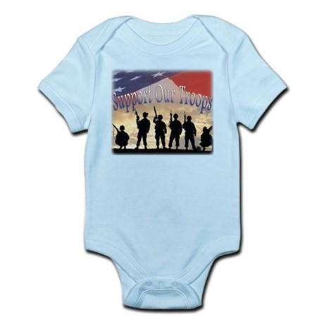 Support Our Troops Soldiers Infant Bodysuit