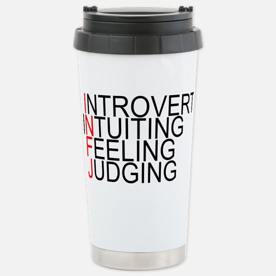 INFJ Spelled Out Stainless Steel Travel Mug