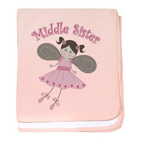Ballerina Middle Sister baby blanket