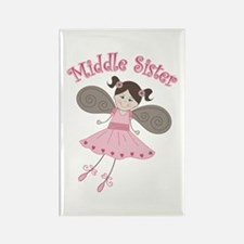 Ballerina Middle Sister Rectangle Magnet