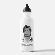 Hillary Clinton Ascii Art Water Bottle
