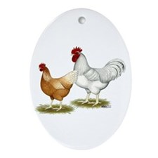Golden Sex-link Chickens Ornament (Oval)