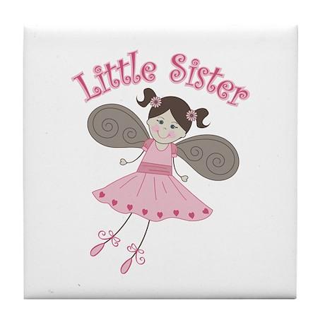 Ballerina Little Sister Tile Coaster