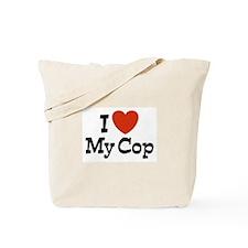 I Love My Cop Tote Bag