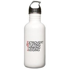 ENTJ Spelled Out Sports Water Bottle