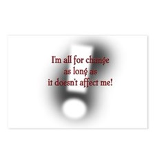 I am all for change... Postcards (Package of 8)
