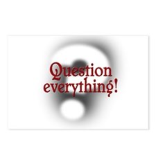 Question Everything! Postcards (Package of 8)