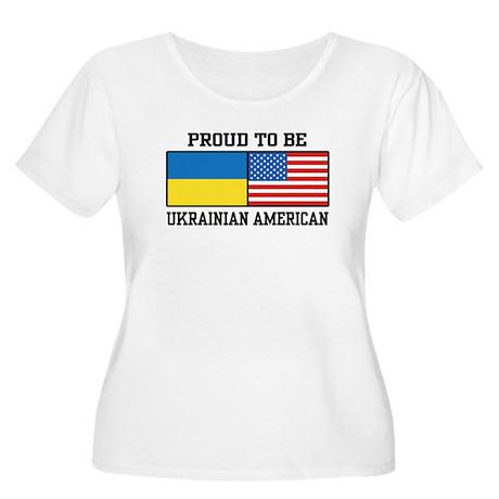 Ukrainian American Women's Plus Size Scoop Neck T-