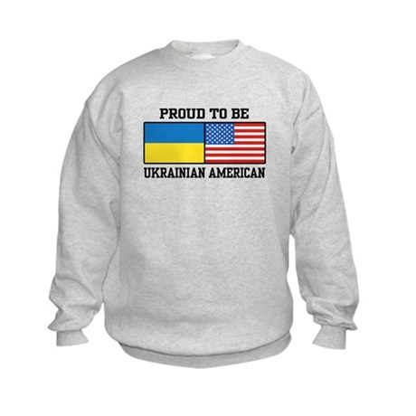 Ukrainian American Kids Sweatshirt