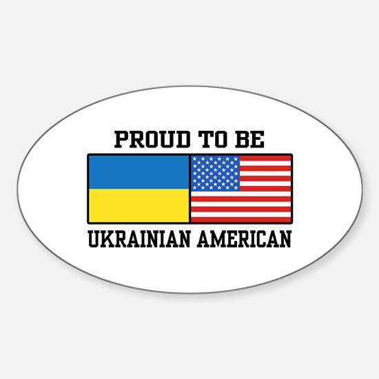 Ukrainian American Sticker (Oval)