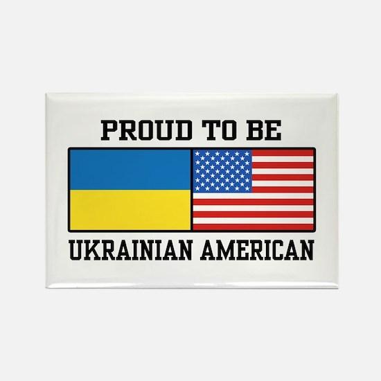 Ukrainian American Rectangle Magnet