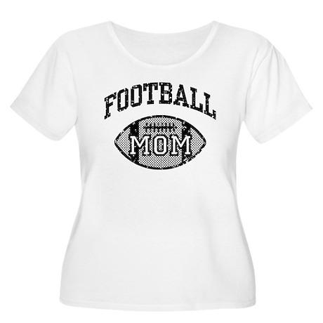 Football Mom Women's Plus Size Scoop Neck T-Shirt