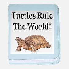 TURTLES RULE! baby blanket