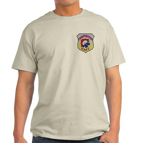 Firefighter EMT Badge Light T-Shirt